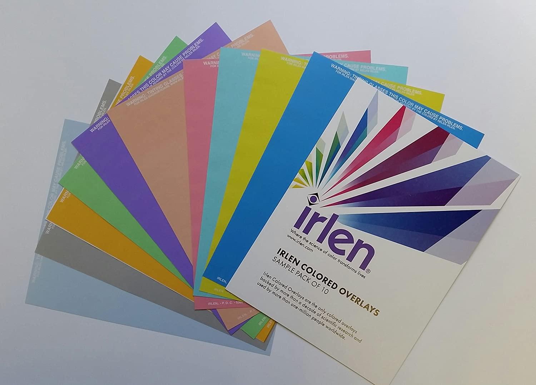 Irlen color overlays